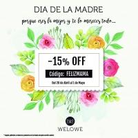 Día de la madre: Código descuento Welowe