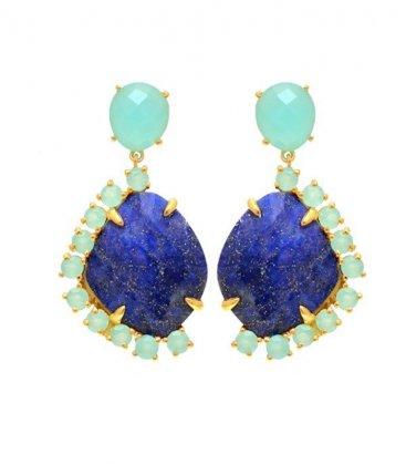 Pendientes Minerva Azul