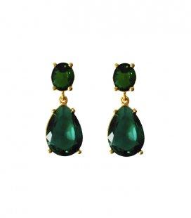 Pendientes Cristal Verde