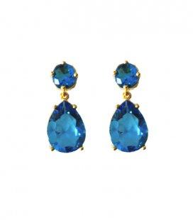 Pendientes Cristal Azul